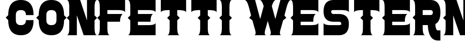 Anteprima - Font Confetti Western