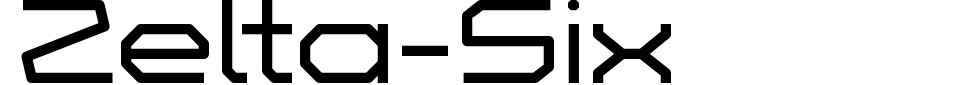 Zelta-Six Font Preview