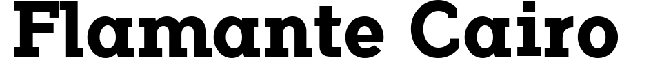 Anteprima - Font Flamante Cairo
