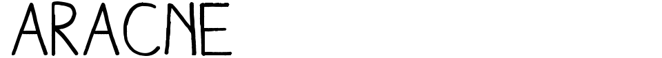 Vorschau der Schriftart - Aracne