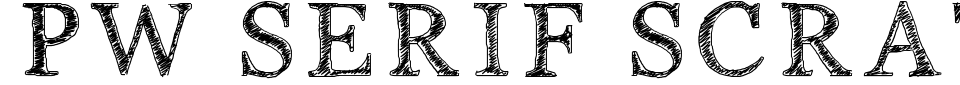 Visualização - Fonte PW Serif Scratch