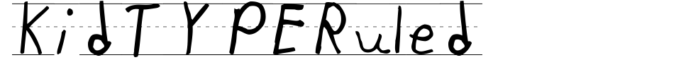 KidTYPERuled Font Preview