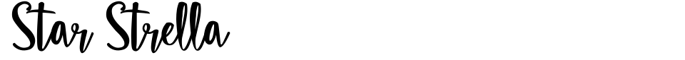 Star Strella Font Preview