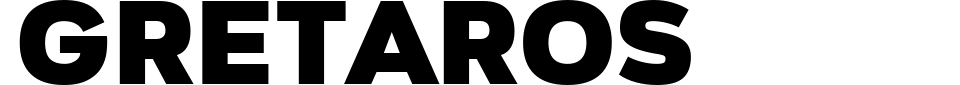 Gretaros Font Preview