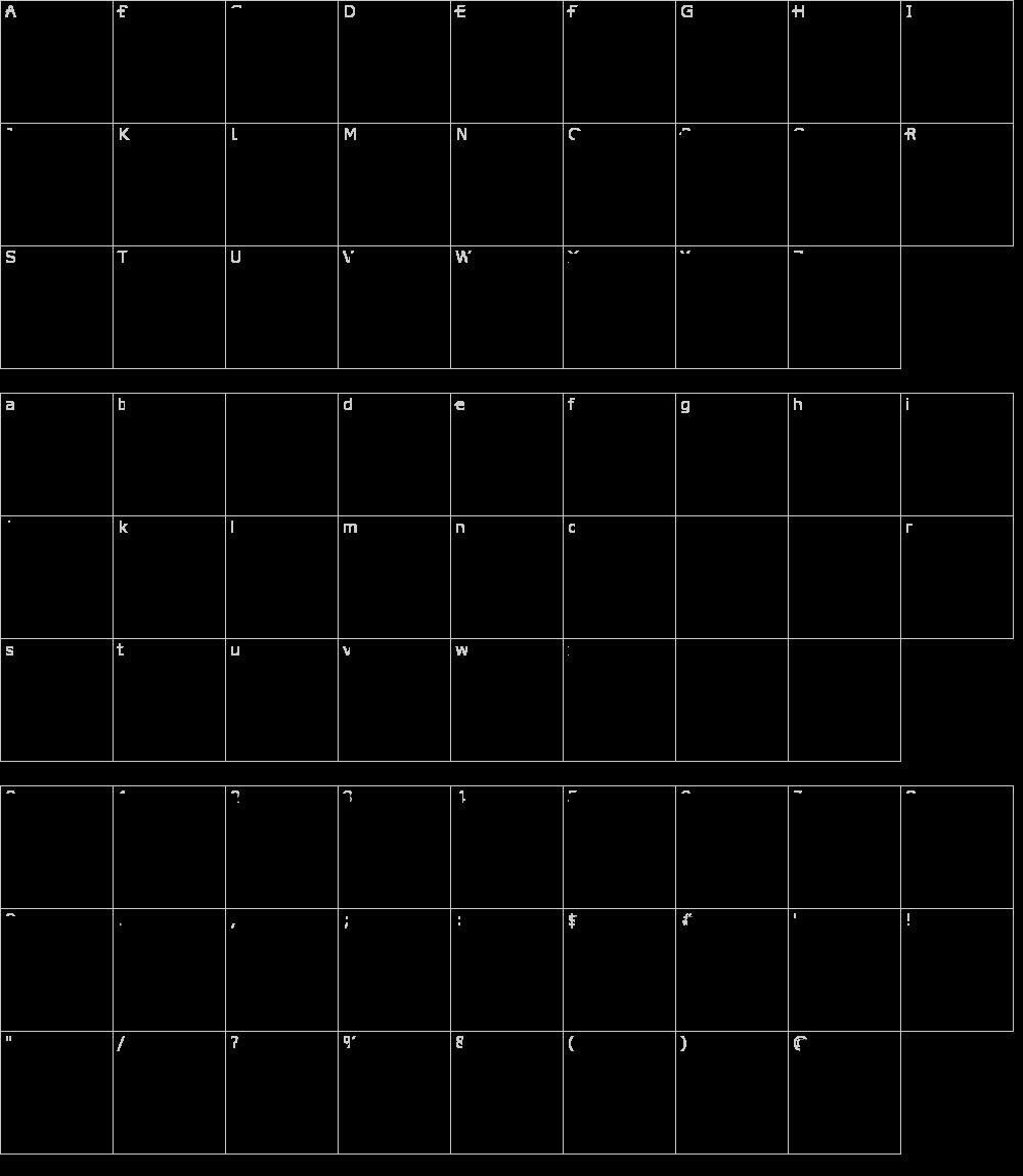 Caratteri del Font - Barmorse