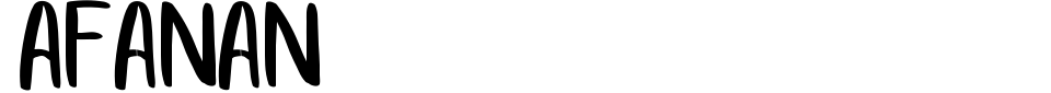 Anteprima - Font Afanan