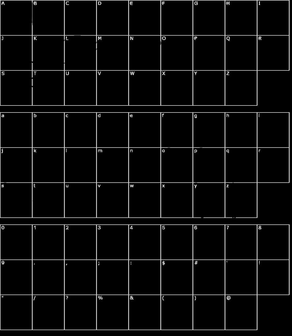 Caratteri del Font - Halimun