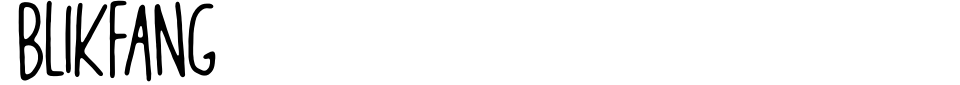 Blikfang Font Preview