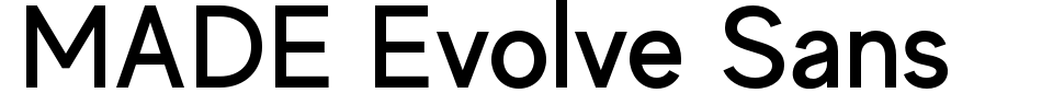 폰트 미리 보기:MADE Evolve Sans