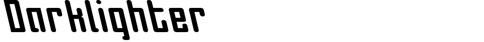 Visualização - Fonte Darklighter