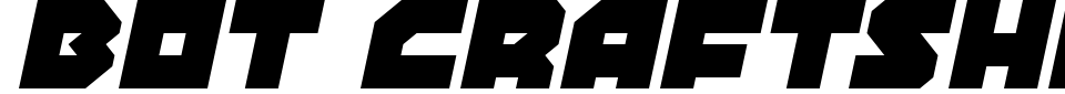 Bot CraftShop Font Preview