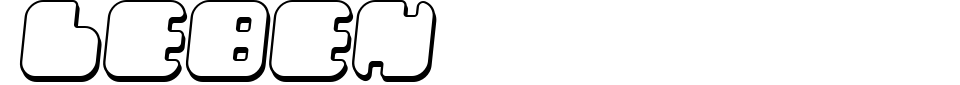 字体预览:Leben