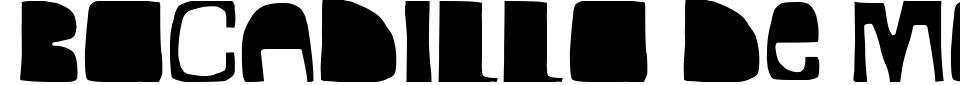 Vorschau der Schriftart - Bocadillo De Mortadela