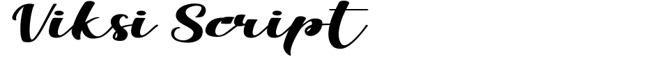 Viksi Script Font Preview