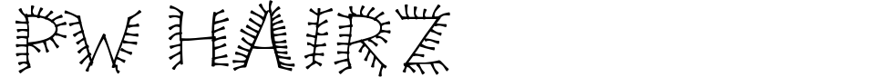 Anteprima - Font PW Hairz