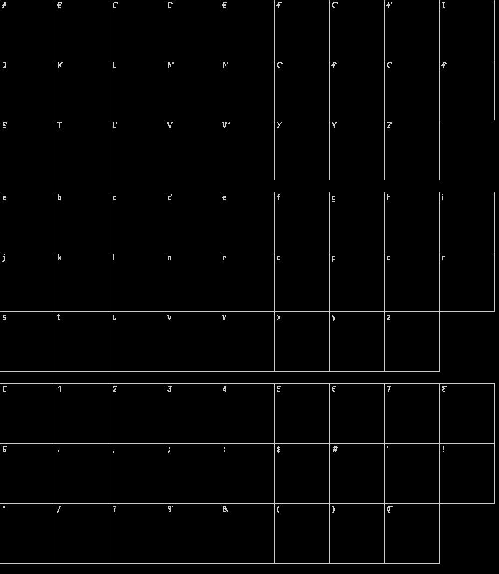 Zeichen der Schriftart: Square Mile