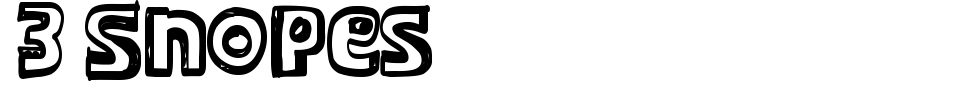 Vorschau der Schriftart - 3 Snopes