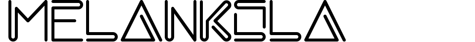 Melankola Font Preview