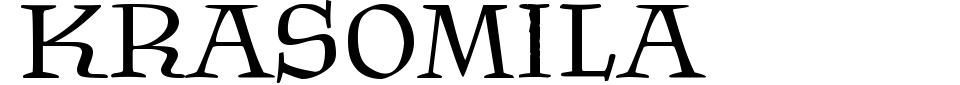 Vista previa - Fuente Krasomila