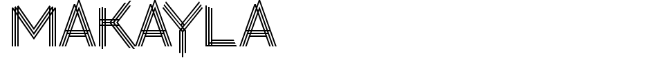 字体预览:Makayla