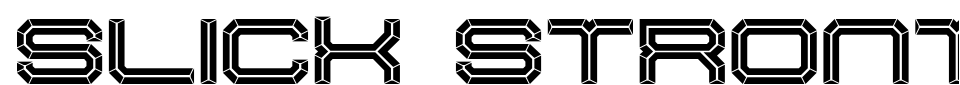 Slick Strontium Font Preview