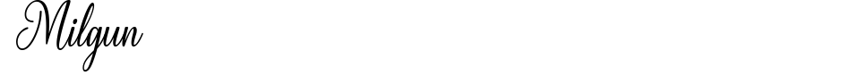 Milgun Font Preview