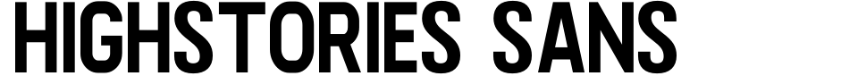 Anteprima - Font Highstories Sans