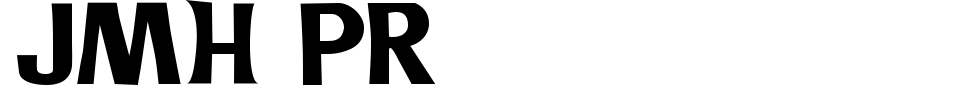 Vorschau der Schriftart - JMH PR