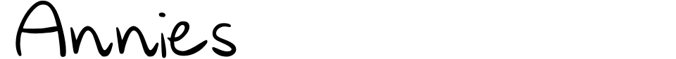 Anteprima - Font Annies