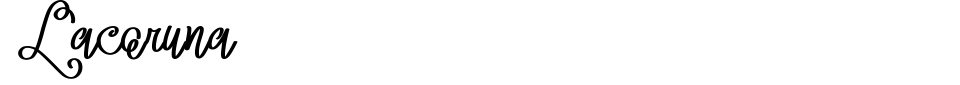Lacoruna Font Preview