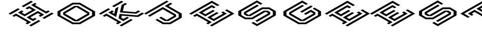 Hokjesgeest Cube Font Generator Preview
