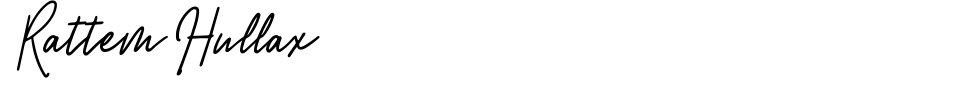 Rattem Hullax Font Generator Preview