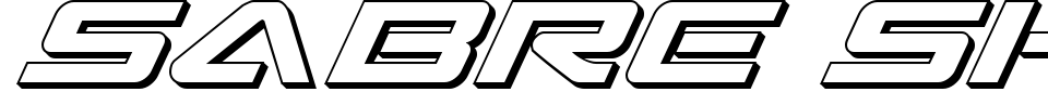 Vorschau der Schriftart - Sabre Shark