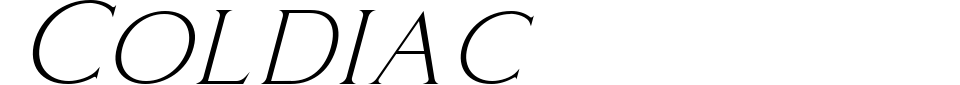 Coldiac Font Preview