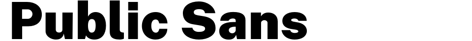 Vorschau der Schriftart - Public Sans