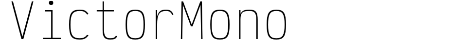 Anteprima - Font Victor Mono