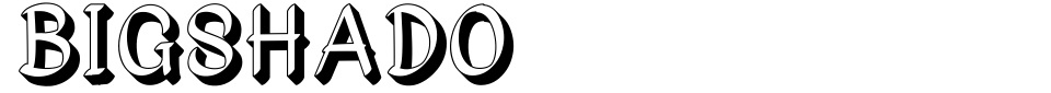 Bigshado Font Generator Preview