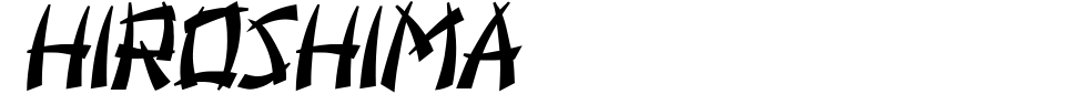 字体预览:Hiroshima [Vladimir Nikolic]