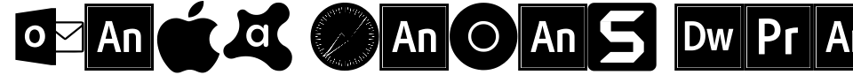 フォントプレビュー:Font Logos Programs