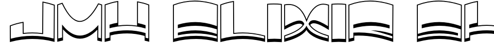 字体预览:JMH Elixir Shadow