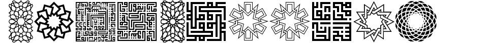 Visualização - Fonte Kufi Pattern