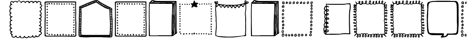 Tanaestel Doodle Frames 01 Font Preview