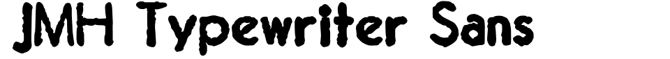 Visualização - Fonte JMH Typewriter Sans