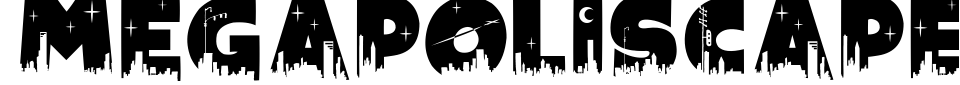 Megapoliscape Font Preview