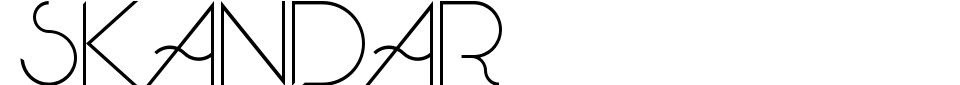 Vorschau der Schriftart - Skandar