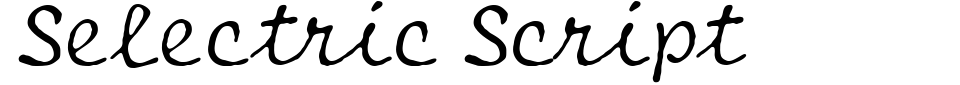 Selectric Script Font Preview