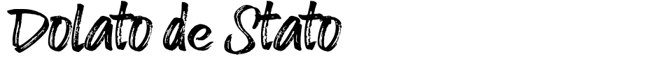 字体预览:Dolato de Stato