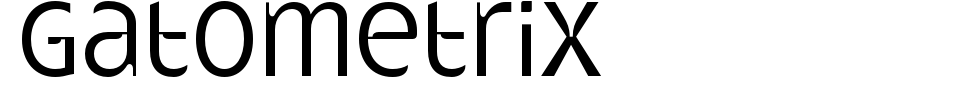 폰트 미리 보기:Gatometrix