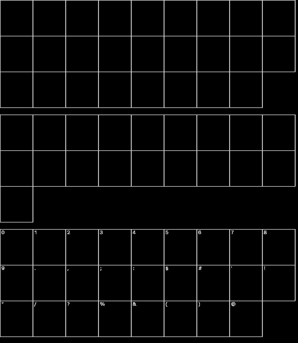 Characters: Palanquin Dark Font