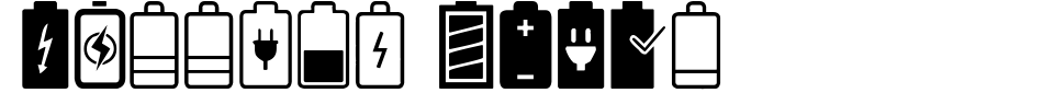 폰트 미리 보기:Battery Icons